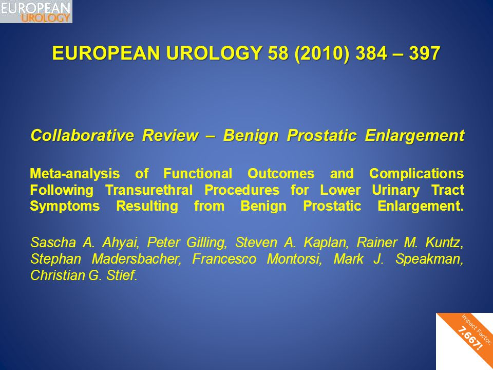 EUROPEAN UROLOGY 58 (2010) 384 – 397