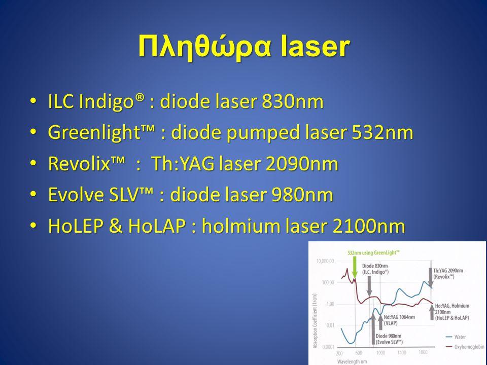 Πληθώρα laser ILC Indigo® : diode laser 830nm