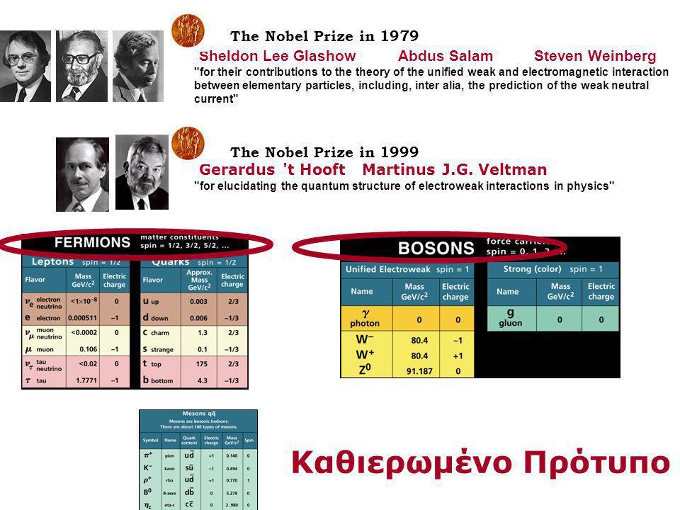 Καθιερωμένο Πρότυπο The Nobel Prize in 1979