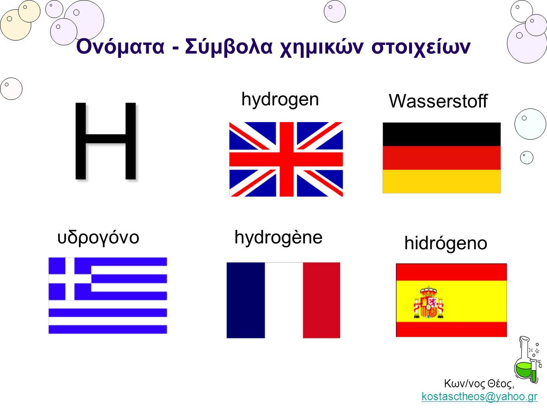 Ονόματα - Σύμβολα χημικών στοιχείων