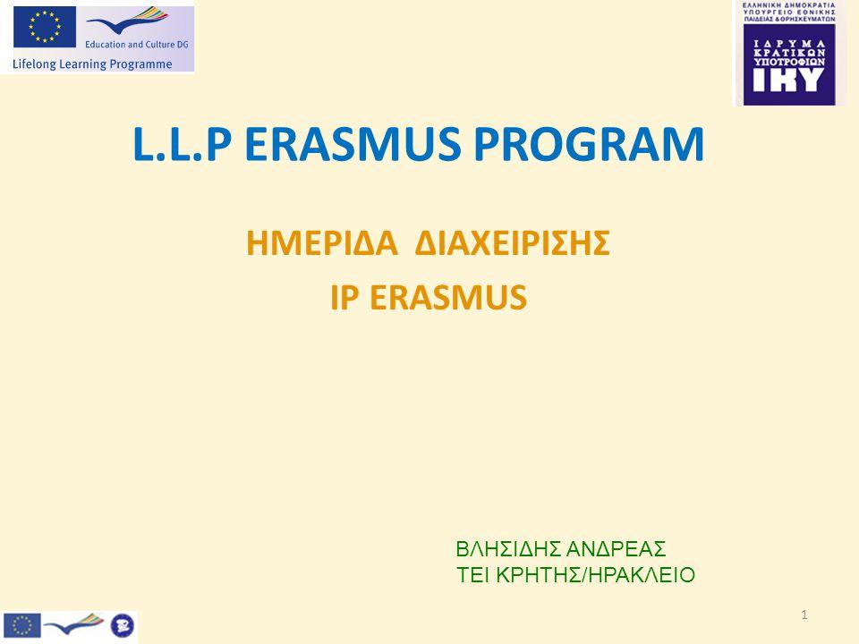 ΗΜΕΡΙΔΑ ΔΙΑΧΕΙΡΙΣΗΣ IP ERASMUS