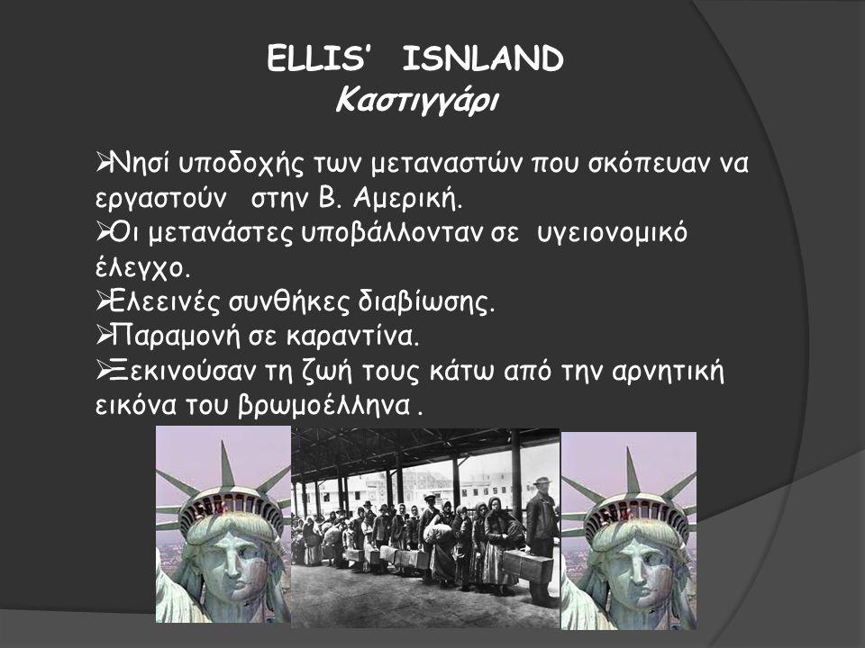 ELLIS' ISNLAND Καστιγγάρι