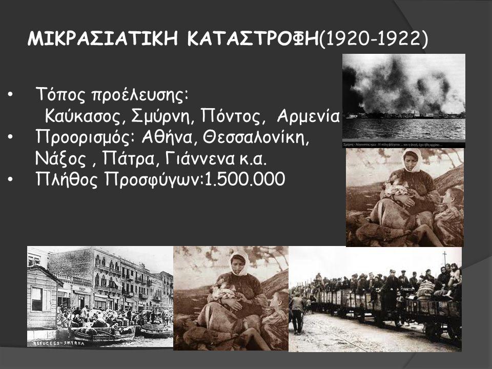 ΜΙΚΡΑΣΙΑΤΙΚΗ ΚΑΤΑΣΤΡΟΦΗ(1920-1922)