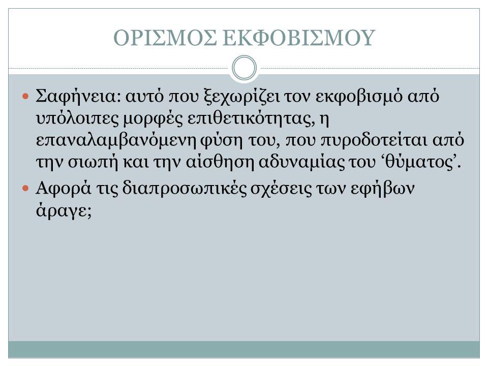 ΟΡΙΣΜΟΣ ΕΚΦΟΒΙΣΜΟΥ