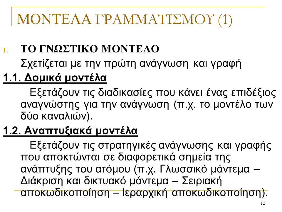 ΜΟΝΤΕΛΑ ΓΡΑΜΜΑΤΙΣΜΟΥ (1)