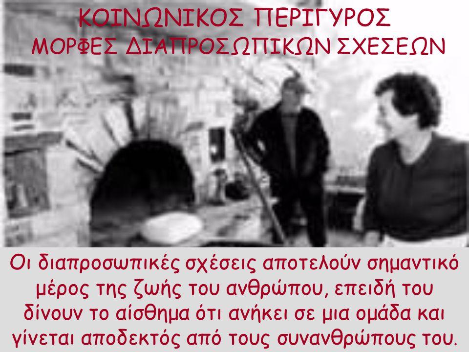 ΚΟΙΝΩΝΙΚΟΣ ΠΕΡΙΓΥΡΟΣ ΜΟΡΦΕΣ ΔΙΑΠΡΟΣΩΠΙΚΩΝ ΣΧΕΣΕΩΝ