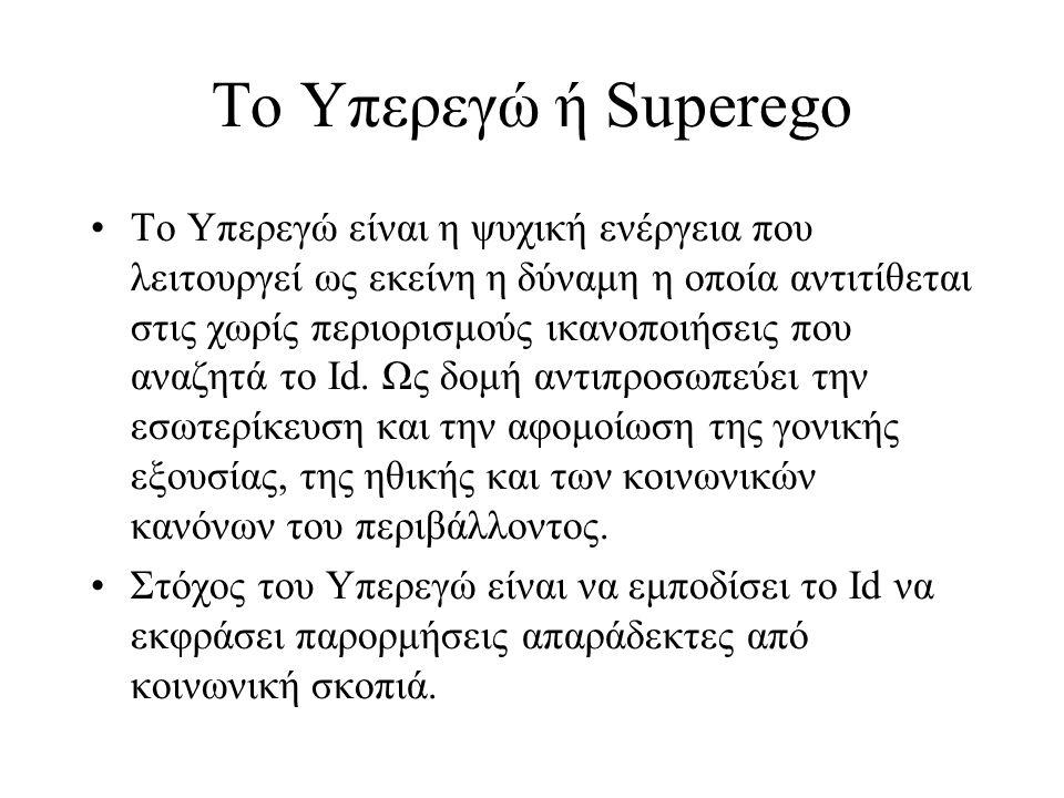 Το Υπερεγώ ή Superego