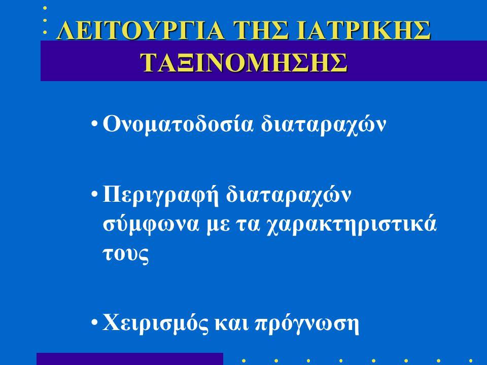 ΛΕΙΤΟΥΡΓΙΑ ΤΗΣ ΙΑΤΡΙΚΗΣ ΤΑΞΙΝΟΜΗΣΗΣ