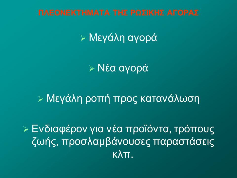 ΠΛΕΟΝΕΚΤΗΜΑΤΑ ΤΗΣ ΡΩΣΙΚΗΣ ΑΓΟΡΑΣ