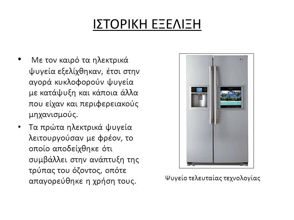 Ψυγείο τελευταίας τεχνολογίας
