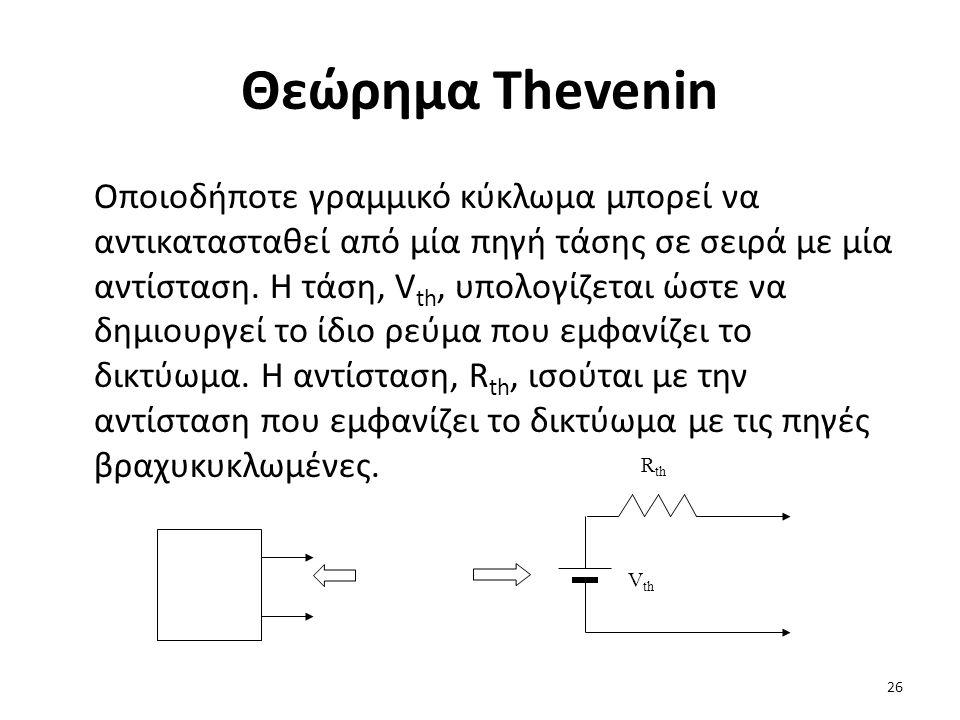 Θεώρημα Thevenin