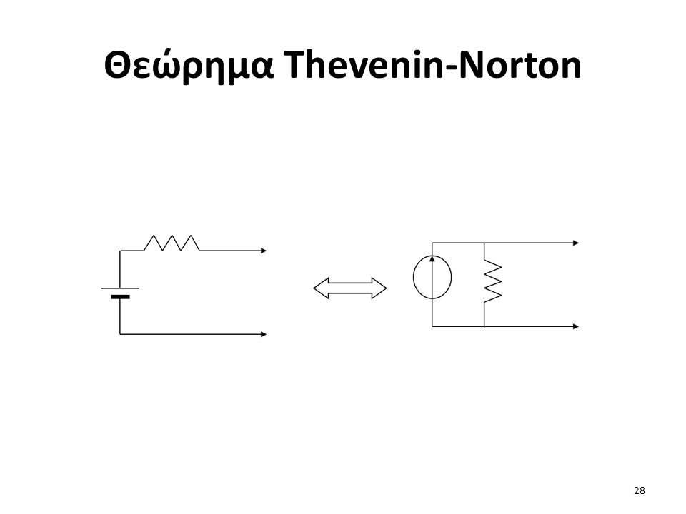 Θεώρημα Thevenin-Norton