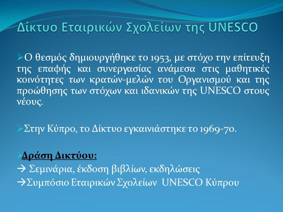 Δίκτυο Εταιρικών Σχολείων της UNESCO