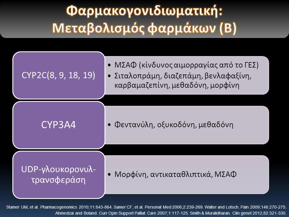 Φαρμακογoνιδιωματική: Μεταβολισμός φαρμάκων (Β)