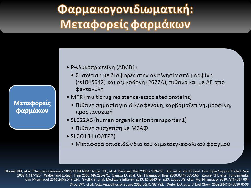 Φαρμακογονιδιωματική: Μεταφορείς φαρμάκων