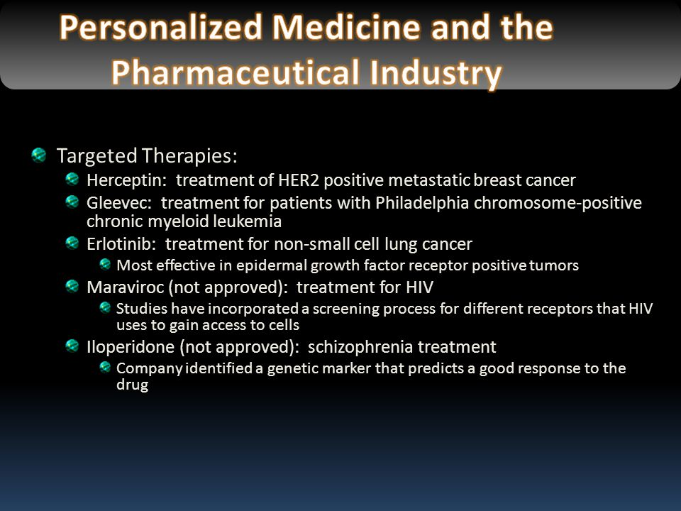 Personalized Medicine and the Pharmaceutical Industry