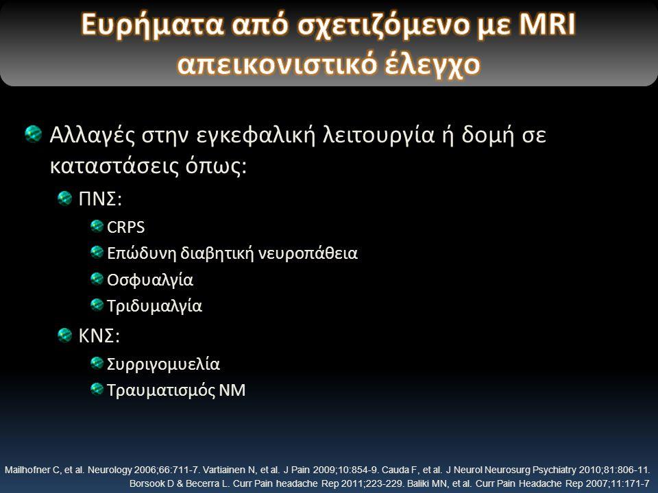 Ευρήματα από σχετιζόμενο με MRI απεικονιστικό έλεγχο