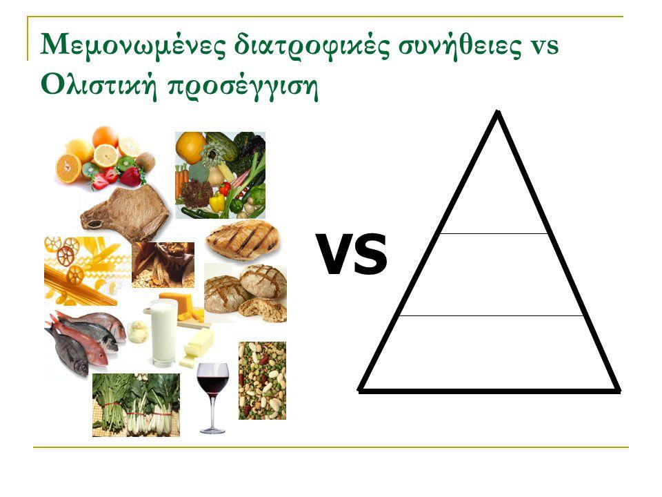 Μεμονωμένες διατροφικές συνήθειες vs Ολιστική προσέγγιση