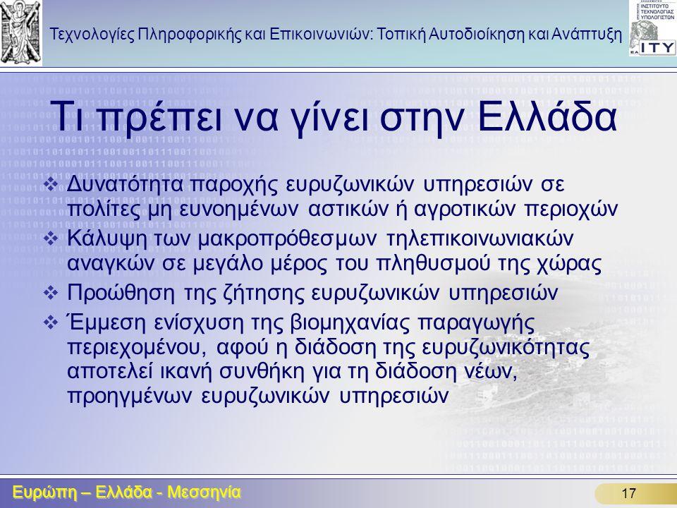 Τι πρέπει να γίνει στην Ελλάδα
