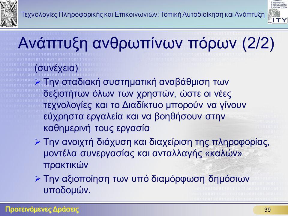 Ανάπτυξη ανθρωπίνων πόρων (2/2)