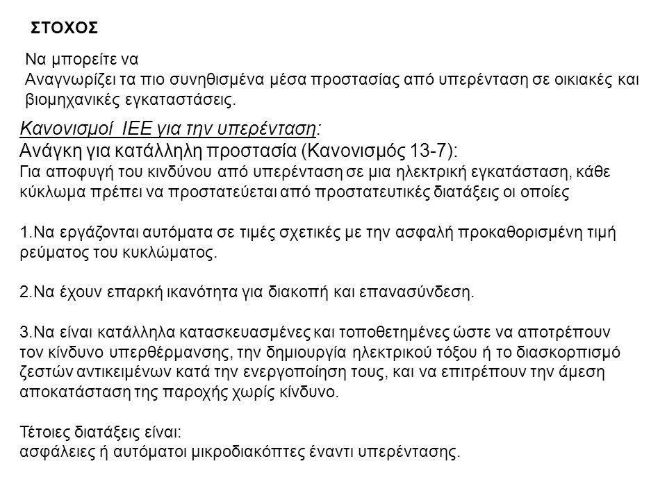 Κανονισμοί ΙΕΕ για την υπερένταση: