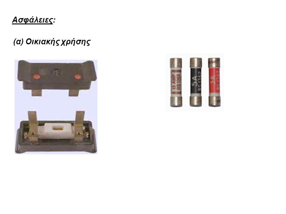 Ασφάλειες: (α) Οικιακής χρήσης
