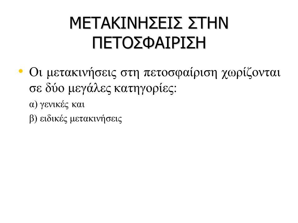 ΜΕΤΑΚΙΝΗΣΕΙΣ ΣΤΗΝ ΠΕΤΟΣΦΑΙΡΙΣΗ