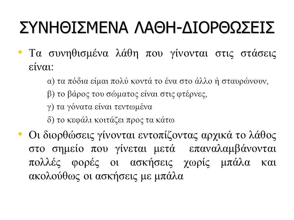 ΣΥΝΗΘΙΣΜΕΝΑ ΛΑΘΗ-ΔΙΟΡΘΩΣΕΙΣ