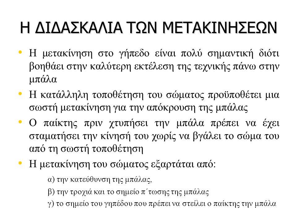 Η ΔΙΔΑΣΚΑΛΙΑ ΤΩΝ ΜΕΤΑΚΙΝΗΣΕΩΝ