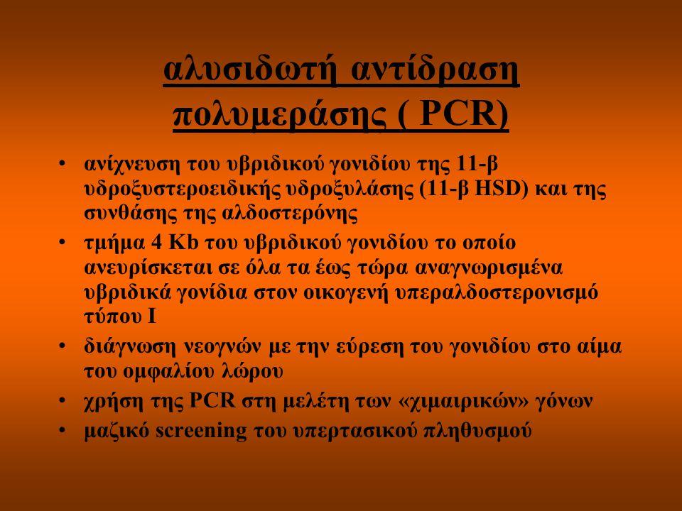 αλυσιδωτή αντίδραση πολυμεράσης ( PCR)