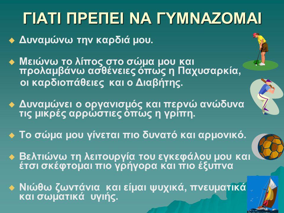 ΓΙΑΤΙ ΠΡΕΠΕΙ ΝΑ ΓΥΜΝΑΖΟΜΑΙ