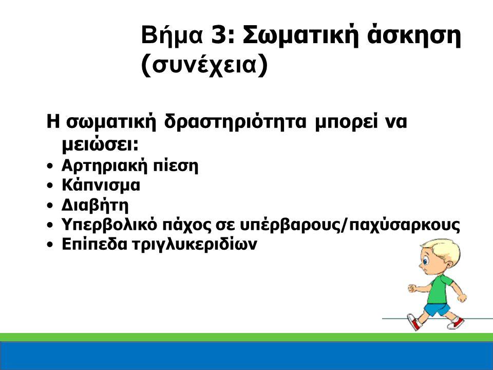 Βήμα 3: Σωματική άσκηση (συνέχεια)