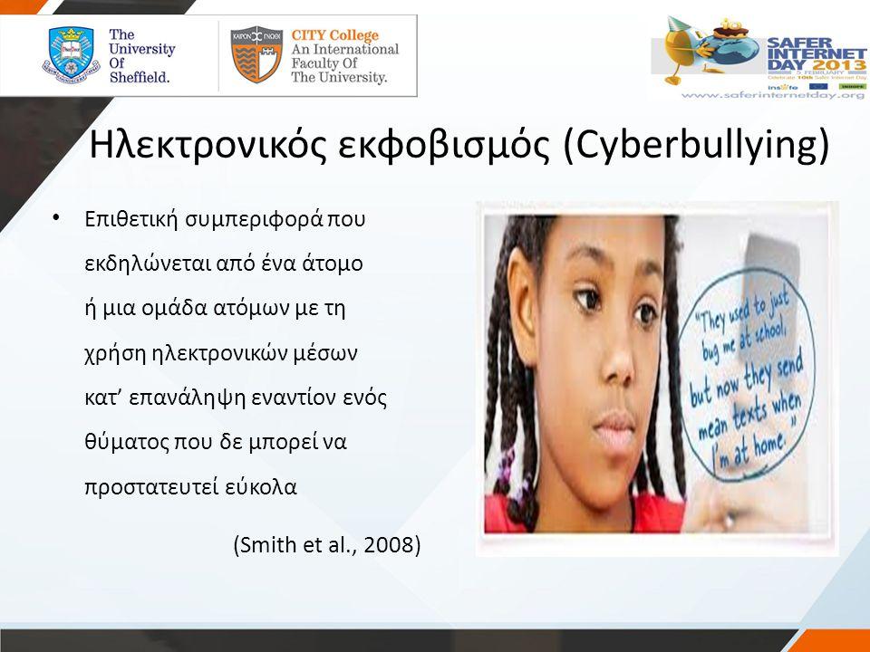 Ηλεκτρονικός εκφοβισμός (Cyberbullying)