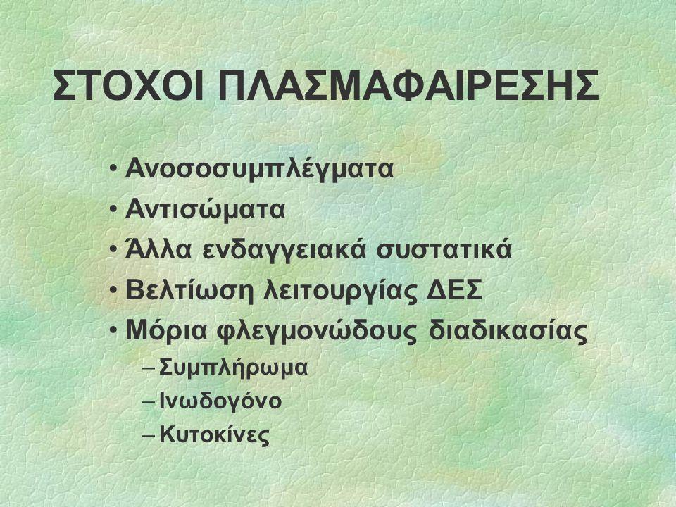 ΣΤΟΧΟΙ ΠΛΑΣΜΑΦΑΙΡΕΣΗΣ
