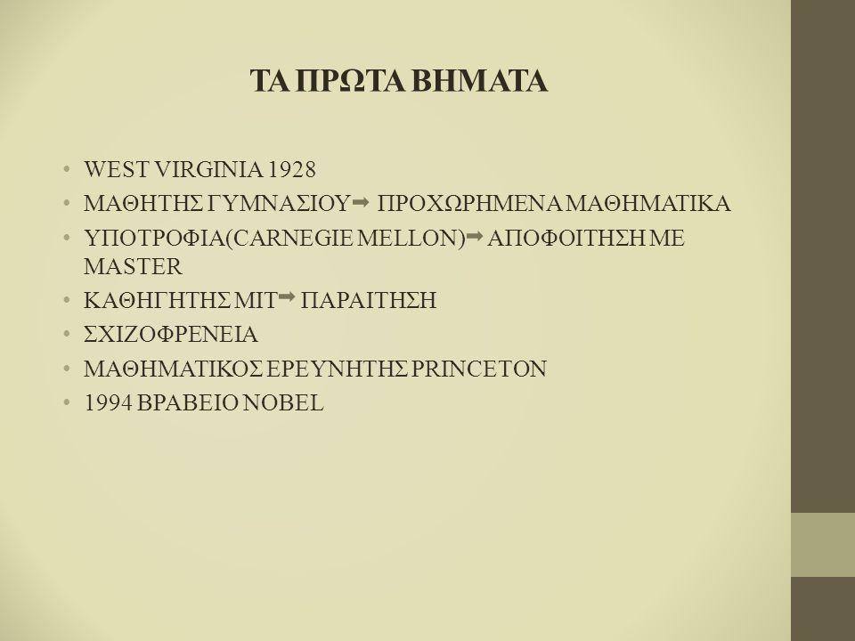 ΤΑ ΠΡΩΤΑ ΒΗΜΑΤΑ WEST VIRGINIA 1928