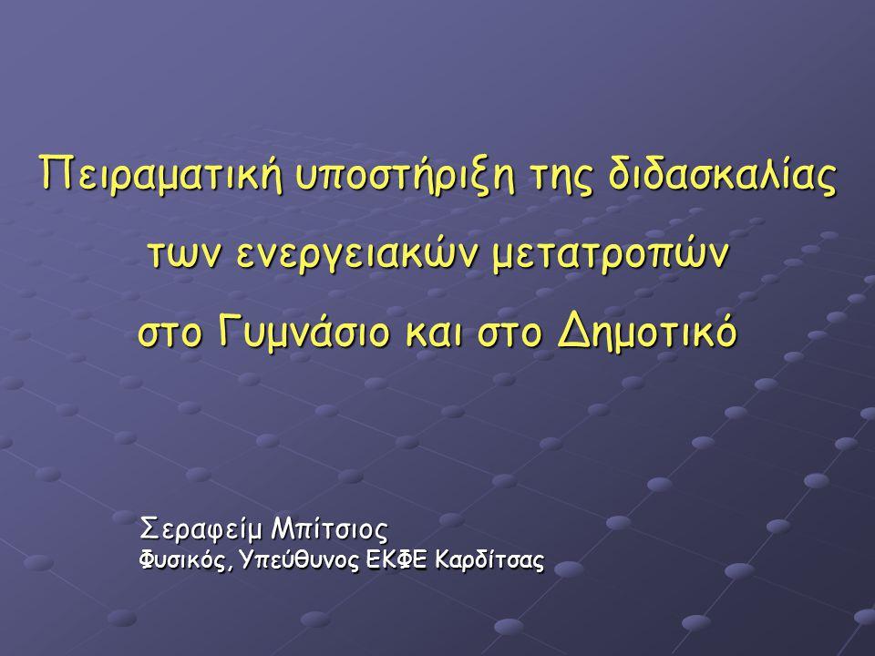 Σεραφείμ Μπίτσιος Φυσικός, Υπεύθυνος ΕΚΦΕ Καρδίτσας