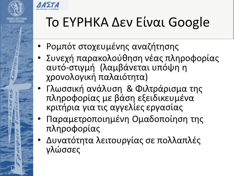 Το ΕΥΡΗΚΑ Δεν Είναι Google