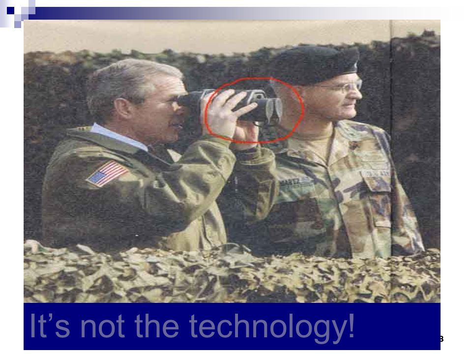 It's not the technology!