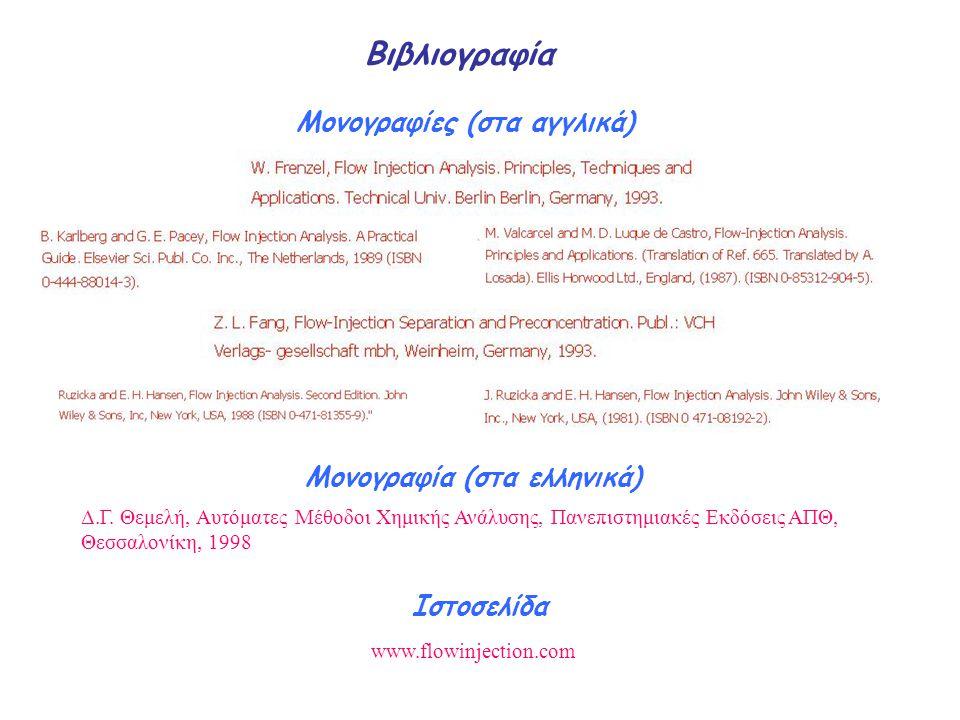 Μονογραφίες (στα αγγλικά) Μονογραφία (στα ελληνικά)
