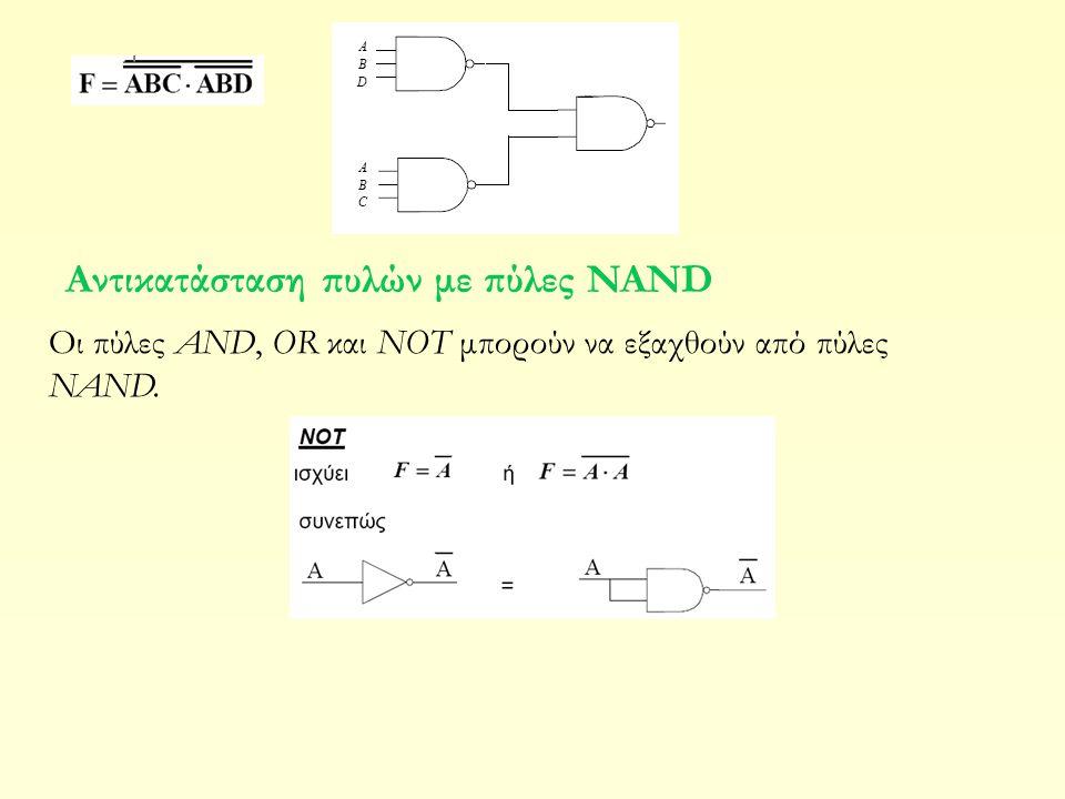 Αντικατάσταση πυλών με πύλες NAND