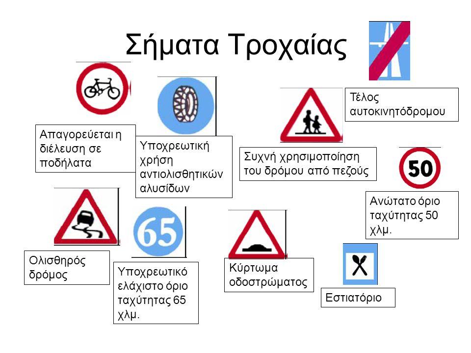 Σήματα Τροχαίας Τέλος αυτοκινητόδρομου