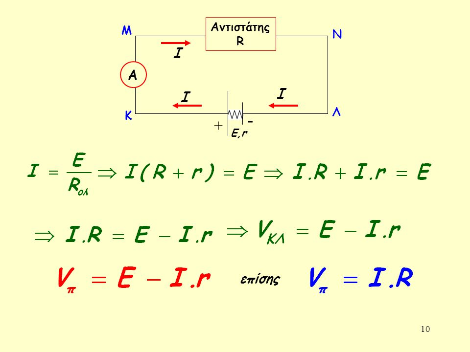 Αντιστάτης R + - Α Ε,r Κ Λ Μ Ν Ι επίσης