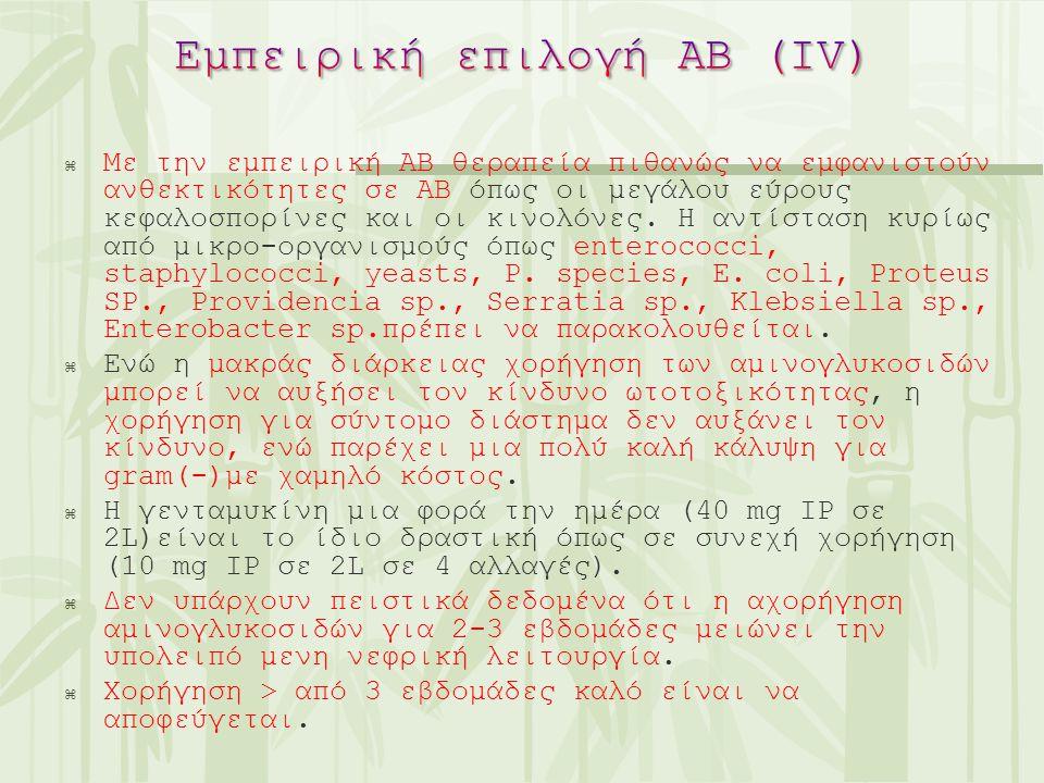 Εμπειρική επιλογή ΑΒ (ΙV)