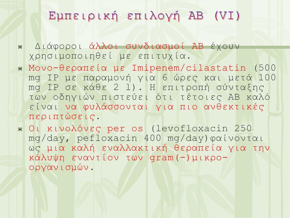 Εμπειρική επιλογή ΑΒ (VI)
