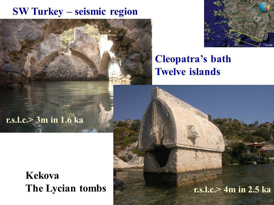 SW Turkey – seismic region