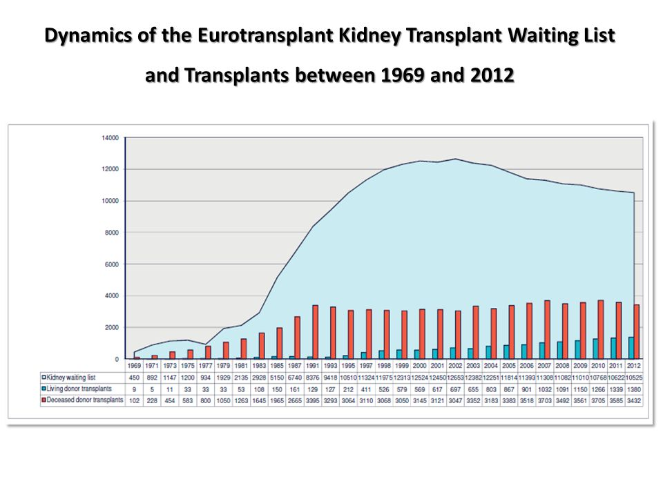 Dynamics of the Eurotransplant Kidney Transplant Waiting List and Transplants between 1969 and 2012