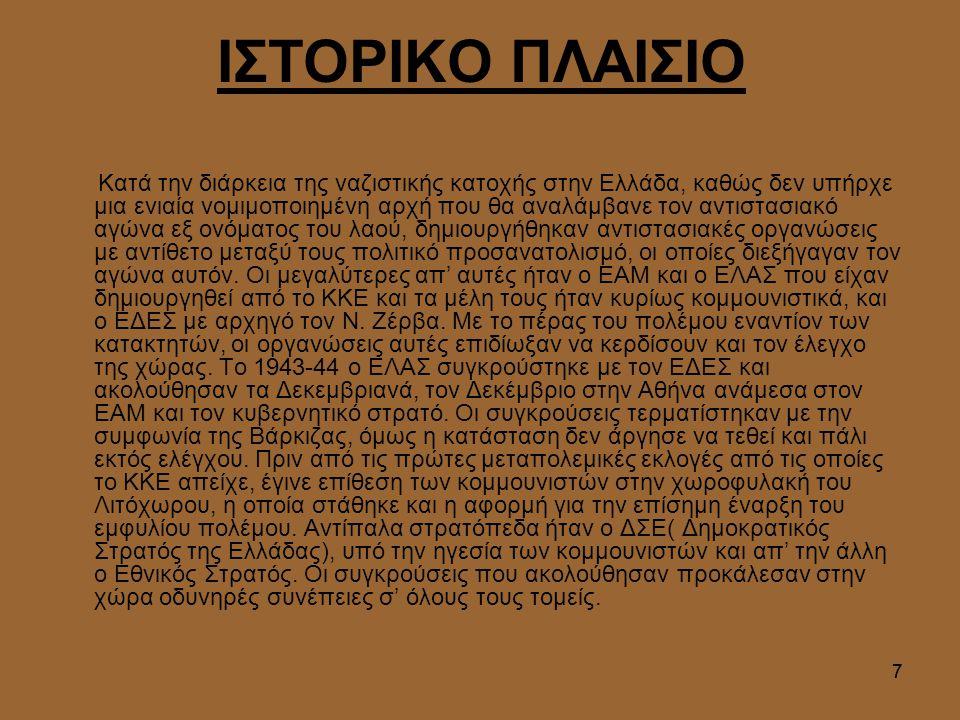 ΙΣΤΟΡΙΚΟ ΠΛΑΙΣΙΟ