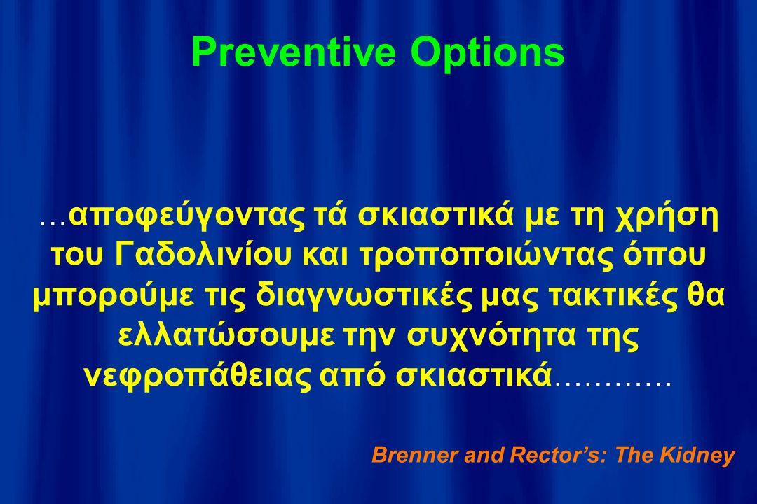 Preventive Options