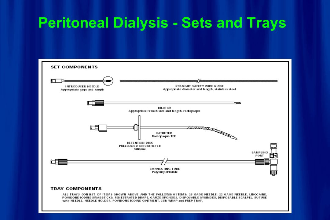 Peritoneal Dialysis - Sets and Trays