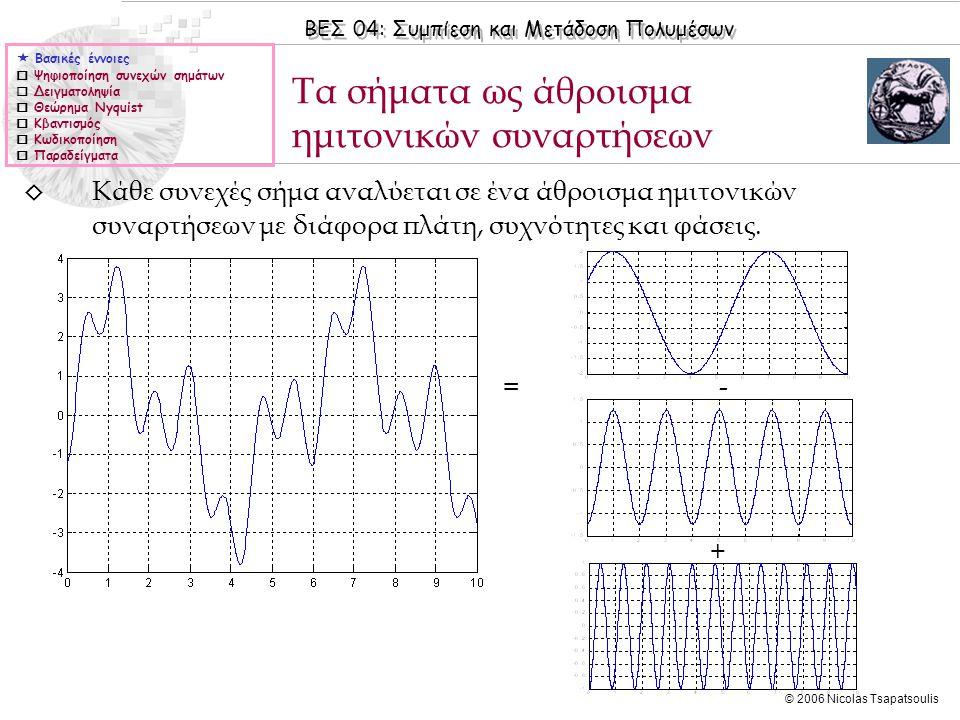 Τα σήματα ως άθροισμα ημιτονικών συναρτήσεων
